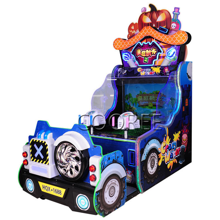 New Design Crazy Waters 2 Water Shooting Simulator Ticket Redemption Games Water Shooting Arcade Game Machine