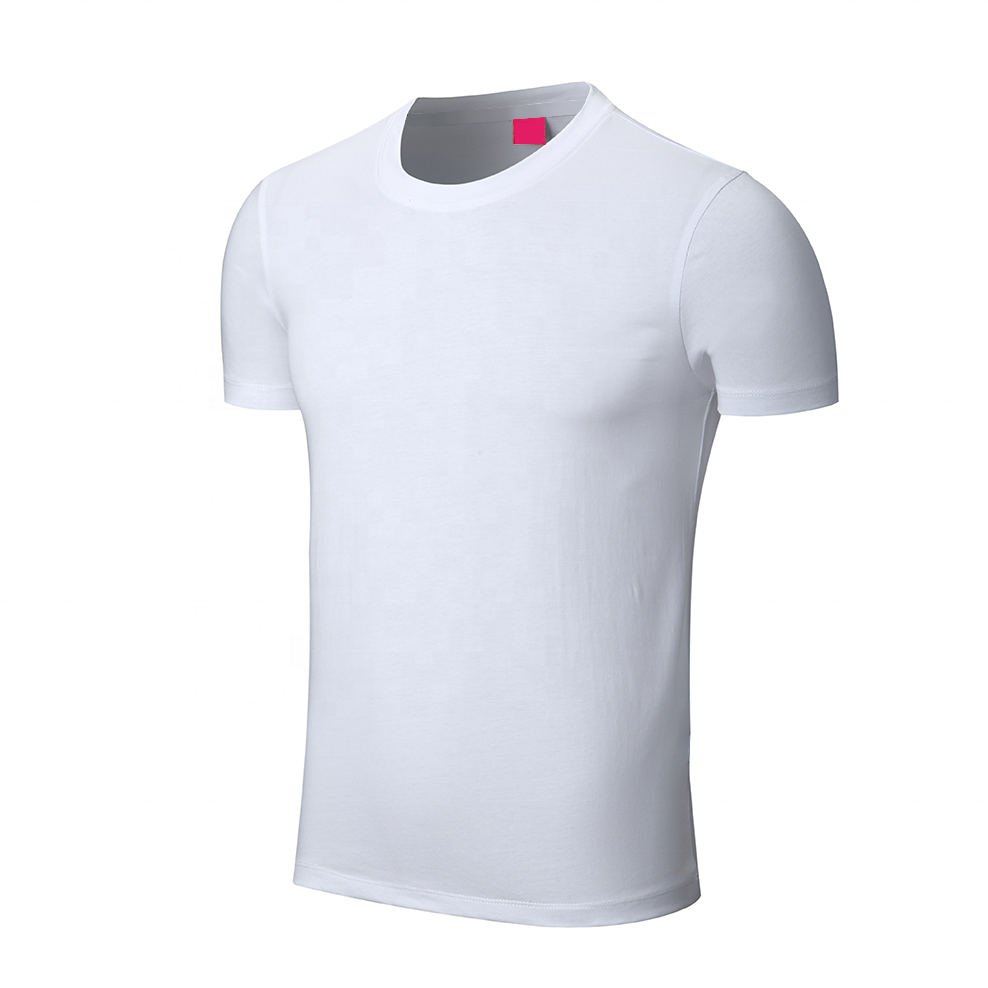 Cheap Wholesale 100% Cotton Mens White T shirt Custom Blank Plain T shirt With Printed Logo Embroidery Logo