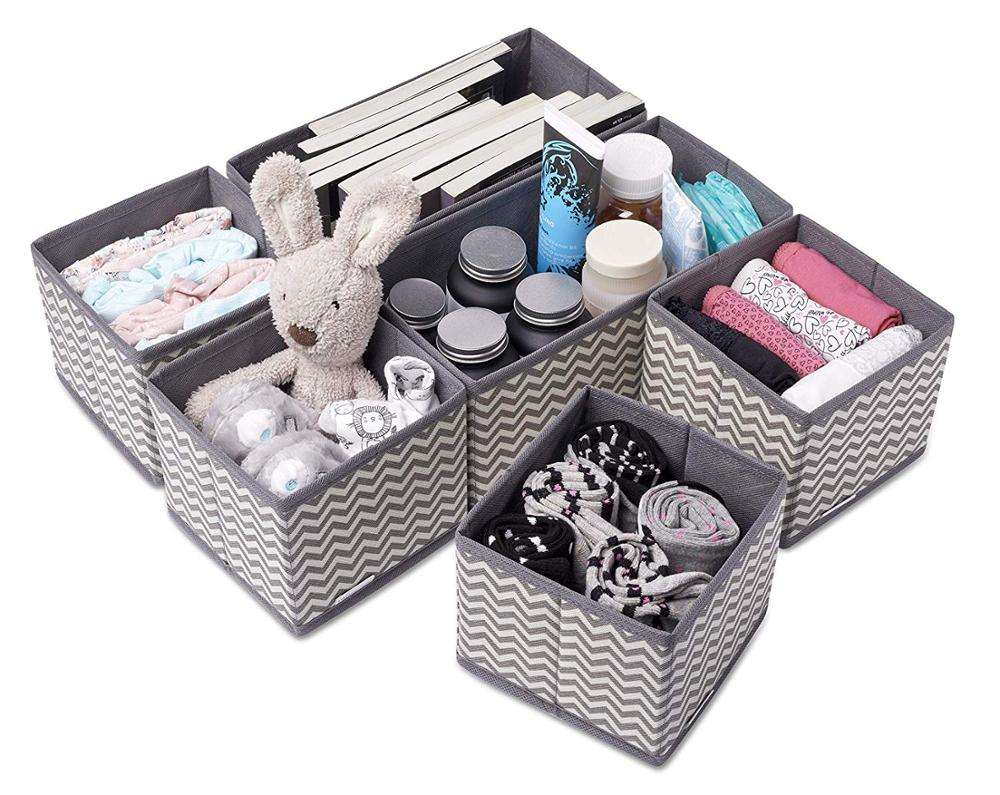 Guangzhou Heavy Duty Cloth Foldable Cube Fabric Storage Box For Home Storage