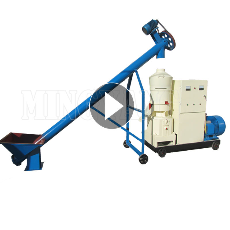 flat die type automatic continuous 80kg per hour ce approved rice husk mini type diesel pellet mill for sell