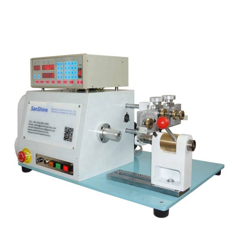 Single spindle automatic high torsion CNC precision table top coil winding machine