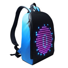 2020 Trend Newest Waterproof Phone WIFI Control Software Editing Smart Travel LED Backpack With Hidden LED Screen Display