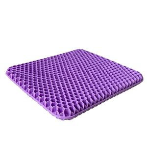 Gel Seat Cushion Double Thick Gel Cushion for Long Sitting with Non-Slip Cover Breathable Honeycomb Chair Pads