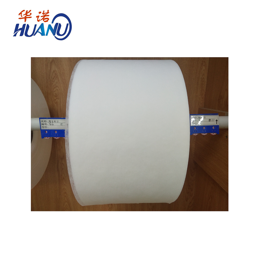 Cotton soft hot air hydrophobic non woven fabric roll raw material for baby diaper sanitary pads