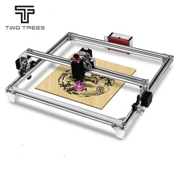TWOTREES 5.5W 2500MW 40x30cm Desktop wood /Bamboo/Leather engraving CNC DIY laser engraving machine cnc laser