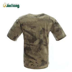 New Wholesale Breathable Military Army O-Neck 100% Cotton Military T-shirt
