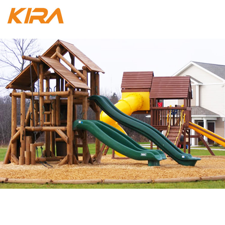Stylish park play equipment kids antimoth wood playground outdoor funny toys