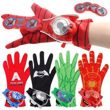 New Super heroes Spider Man Gloves Laucher Spiderman Batman Wrist Launchers Toys For Children Christmas Gift Drop