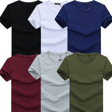Round neck men's t shirt 95% cotton 5% elastic running tees slim fit men's clothing wholesale solid color t shirt men