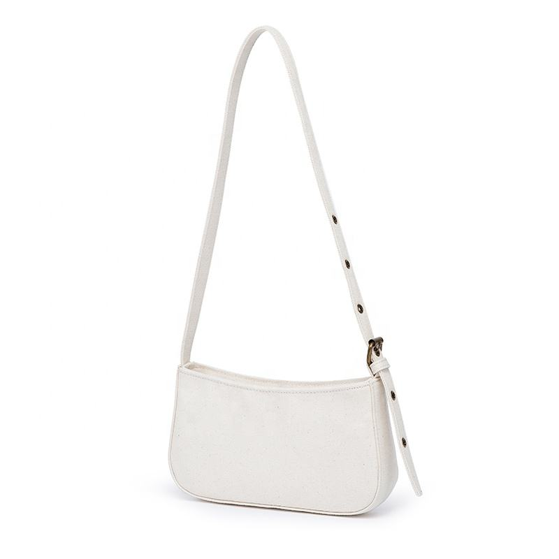 Canvas underarm bag ins summer niche bag female new high-quality single shoulder retro French bag