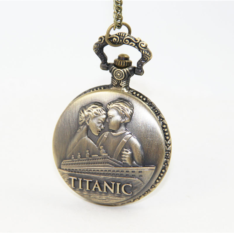Fashion Jewelry Vintage Charm Jack And Rose Titanic Pocket Watch Necklace For Women