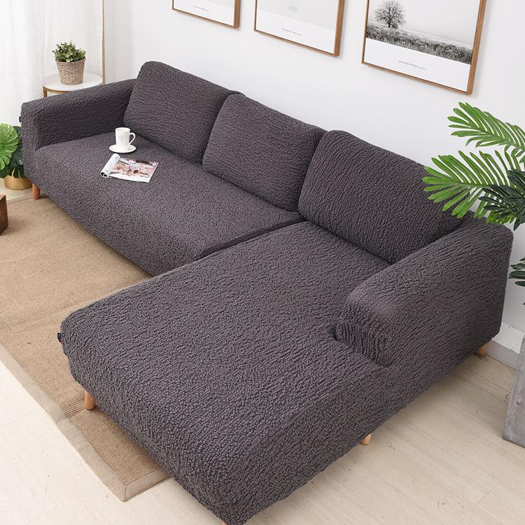 Moderna <span class=keywords><strong>casa</strong></span> de lujo muebles protector Spandex L forma de sofá de esquina cubre