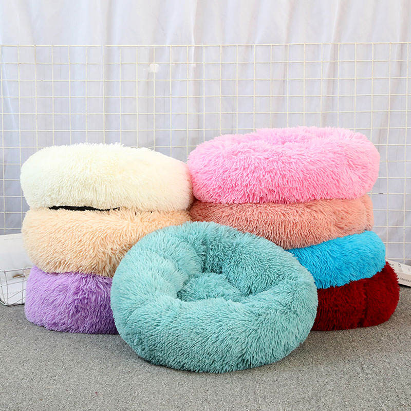 Dog kennel round plush pet nest pad web celebrity hot style cat kennel dog bed and pet products pet bed