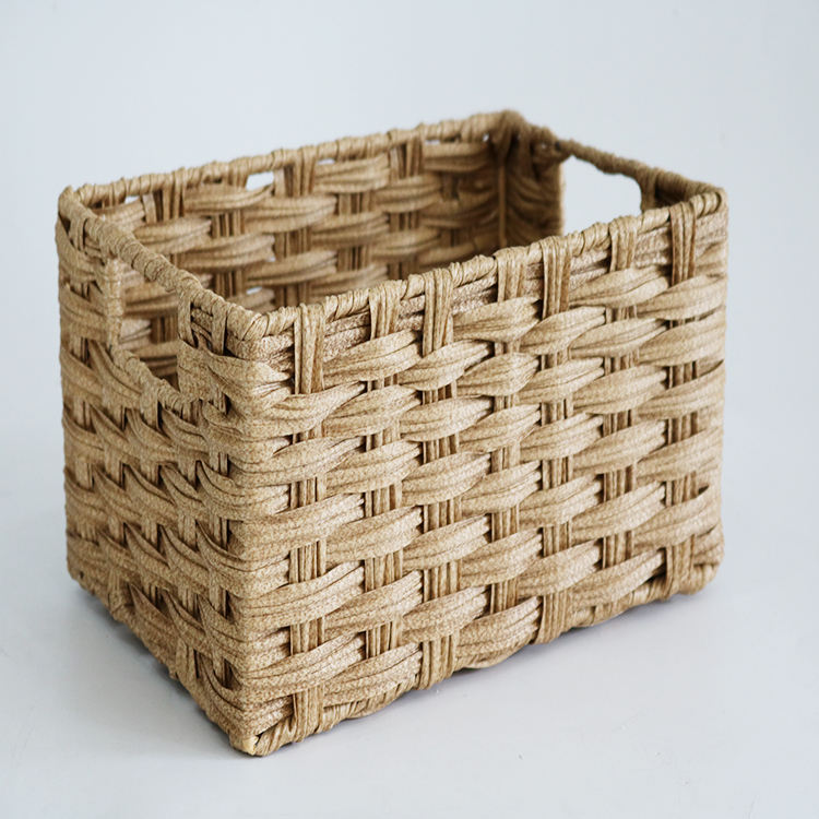 wholesale natural iron willow wicker storage basket