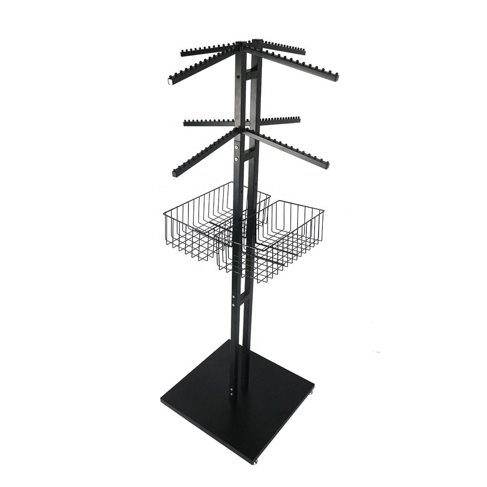 Metal Stand for Clothing Store 4 Way Clothing Display Rack