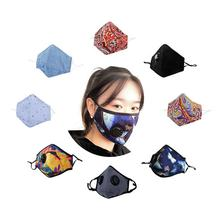 fashion custom printed cotton anti  windproof dust respirator replaceable filter mask