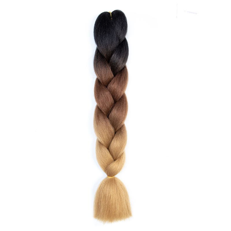 100g/Pc 24Inch synthetic Hair Extensions Ombre Braiding Hair One Piece Afro Bulk Hair Jumbo Crotchet Braids