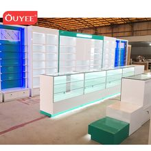 Latest Commercial Pharmacy Equipment Display Furniture Pharmacy Counter Furniture Medical Shop Interior Decoration