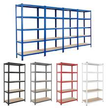 Heavy Duty Boltless Adjustable Industrial Warehouse Store Home Garage Metal Frame 4 5 Layer Tier Sheet Storage Shelf Rack