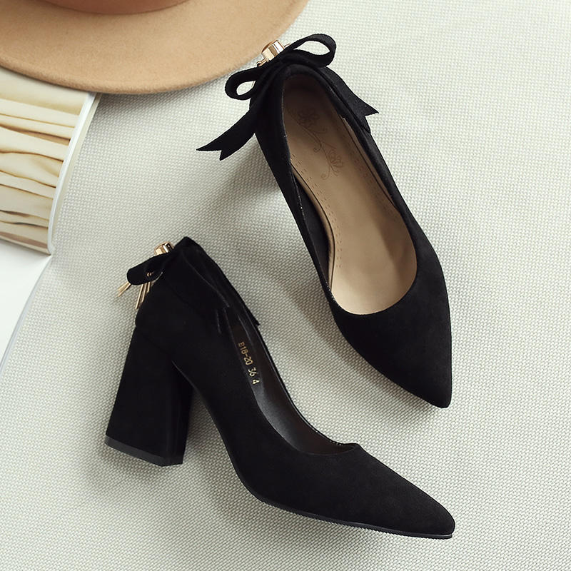New Design Women Dress Pointed Butterfly Elegant Ladies High Heels Shoe