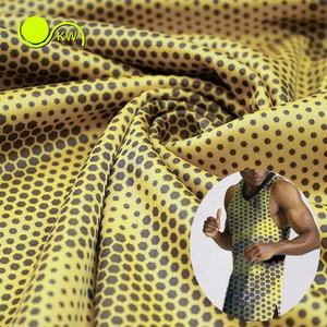 Performance moisture wicking light weight jersey interlock polyester fabric for basketball wear