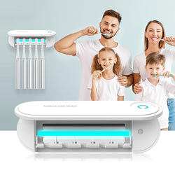 OEM home wall mounted usb smart tooth brush ultraviolet uv light sanitizer toothbrush sterilizer