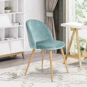 Free sample indian hot sale dining furniture nordic design modern fabric dining chairs with wooden transfer metal legs
