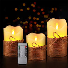hot sale high quality customized safety led candle flameless moving wick