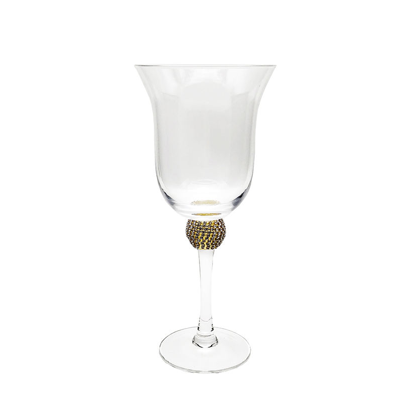 good christmas sublimation smoke giant electroplated diamond stem luxury wine glass wine goblet with logo charm with box