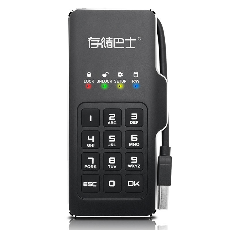 Datage DM23 USB3.1 PinPad Crypté Mobile M.2 <span class=keywords><strong>SSD</strong></span> 500 GO à 1 TO 2 TO avec USB-<span class=keywords><strong>C</strong></span> <span class=keywords><strong>C</strong></span>âble