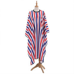 stock waterproof polyester haircut barber apron stripes printed cape