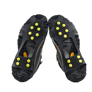 10 Studs S M L XL XXL Universal outdoor Safety Anti-Skid Snow Ice Climbing Shoe Spikes Grips Crampons Cleats Overshoes