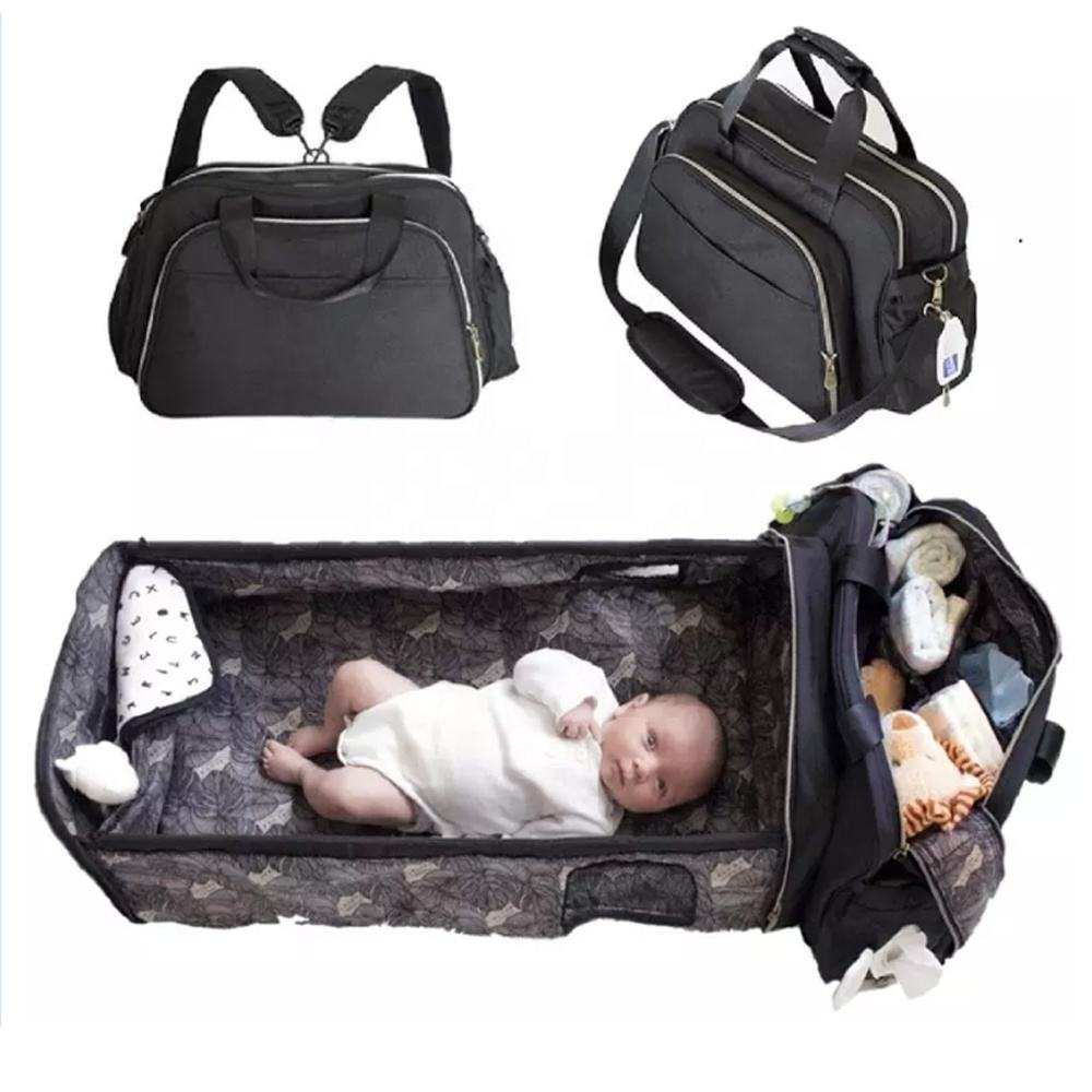 Multifunctional maternity Mom Baby Diaper Bag Large Capacity Mummy Backpack Bags baby organizer bag with baby bed