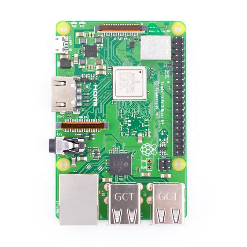 Componentes electrónicos al por mayor E14 RS versión Raspberry Pi 3 Modelo B + B placa 64 Bit Quad Core 1GB placa base con wifi