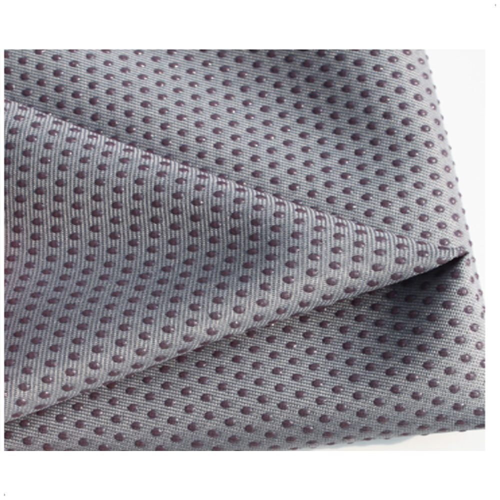 polyester dotted anti non slip resistant fabric for slippers and shoes pvc yoga sofa mat fabric