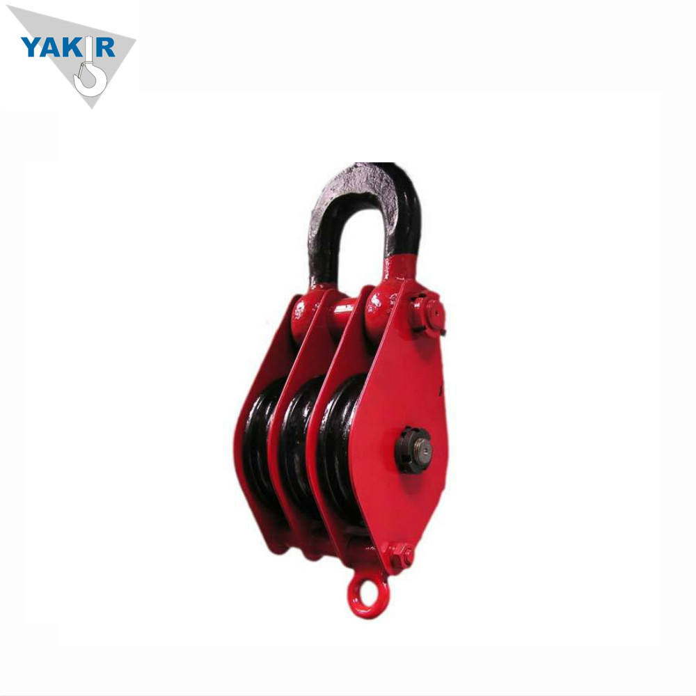 Heavy Duty Double Triple Sheave Snatch Lifting Pulley Block With Hook