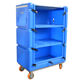 Dry Plastic Laundry Trolley Hot New Products Plastic Wet Dry Laundry Trolley For Dirty Linen Clean Linen