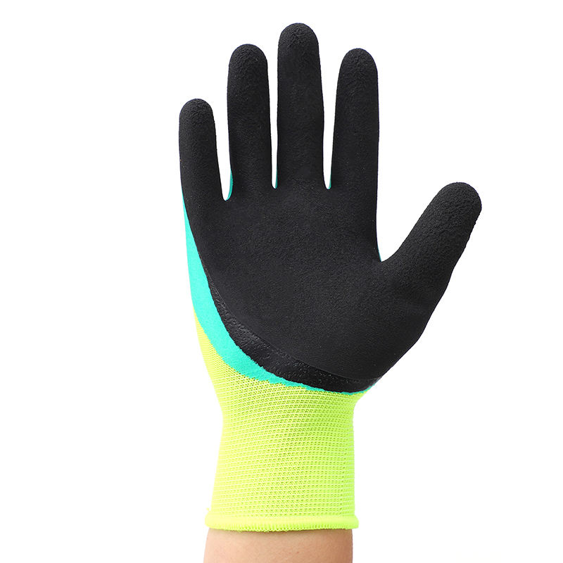 Double Latex Working Gloves Breathable And Non-slip Construction Gloves Comfortable Flexible Labor Work Gloves