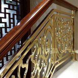 Interior Prefab Art Handrail Aluminum Indoor Stair Railings for Hotel