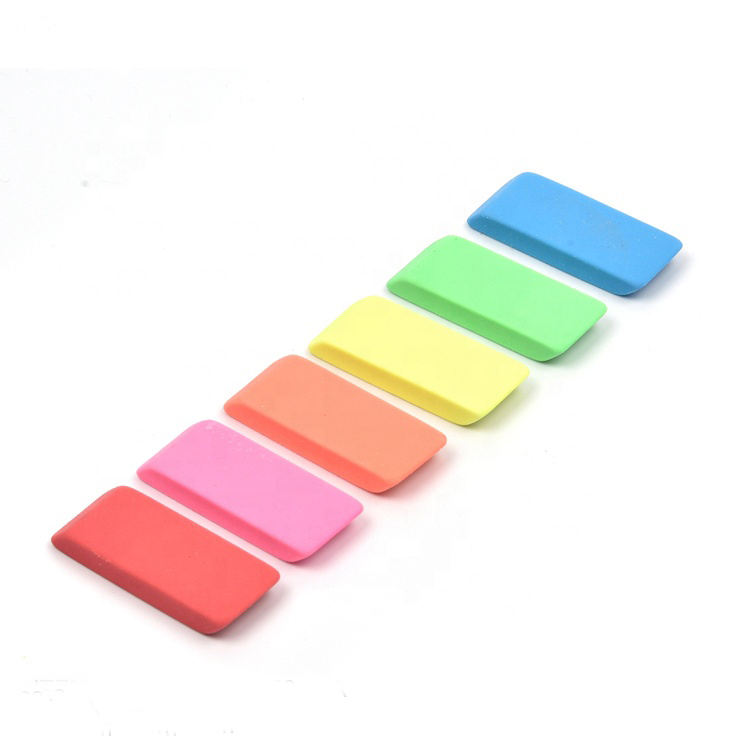 2020 Promotional School Stationery Cute Colorful Rubber Pencil Eraser for kids