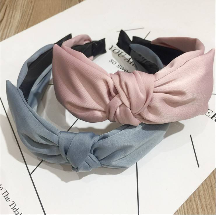 Wholesale Fashion Solid Color Large Size Bow Headband For Women Headband