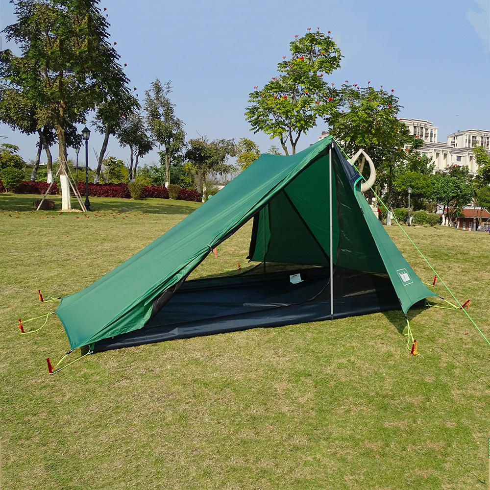 20D Nylon Ultralight Waterproof 2 Person Trekking Pole Tent for Camping Hiking Trekking Backpacking