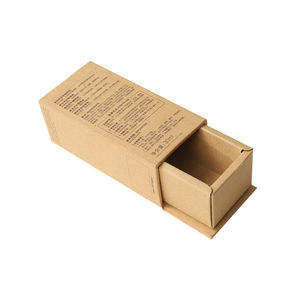 2020 Factory price glossy lamination recycle carton box packaging box kraft paper drawer box