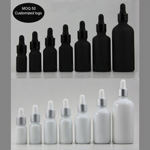 free shipping 5ml 10ml 15ml 20ml 30ml 50ml  white ceramics drop bottles and black glass dropper bottle Enssential Oil bottles