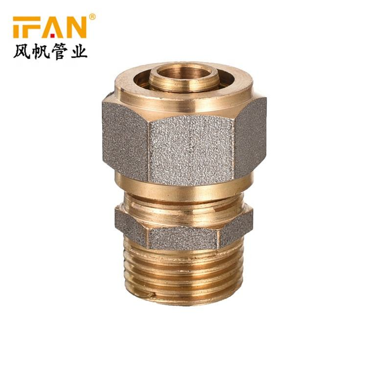 PN20 16*1/2 20*1/2 Male brass pex pipe fitting gas hose adapt quick connect brass compression fittings
