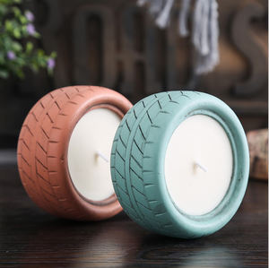 New Design Tire Aromatherapy Cement Candle Holder Home Decoration