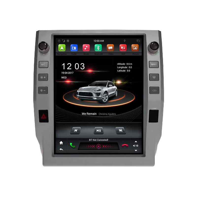 Klyde 12.1 Inch Tesla Radio Android Verticale Screen PX6 Auto MP3 Speler Voor Tundra 2014 2015 2016 2017 2018 Auto video