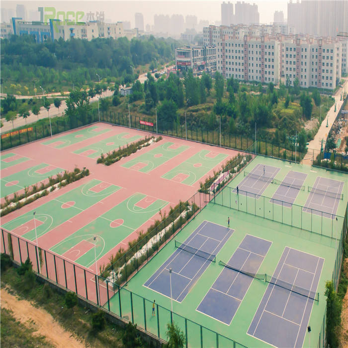 Self-leveling Liquid Chemicals Form High Elasticity Tennis Court Flooring Cover Outdoor Sport Court