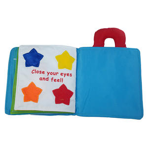 Development toys baby early education learning toys soft fabric printed cloth book