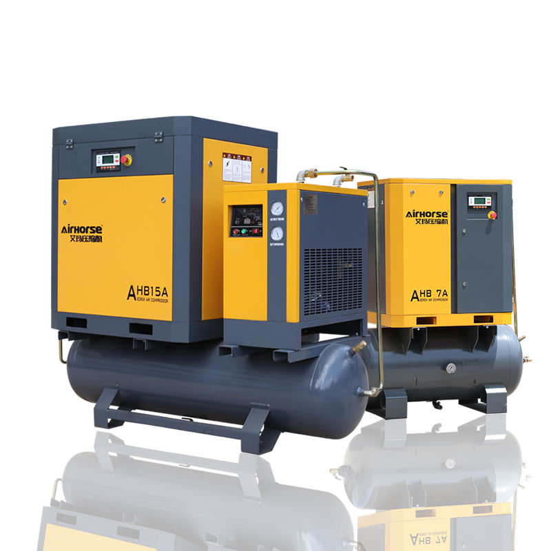 Germany Silent Rotary Screw Air Compressor(500L 300L 8bar) With Dryer,Filters and Tank